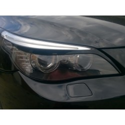 EYELID EYEBROW HEADLIGHT COVER FIT THIN FOR BMW 5 E60 E61 2003 up