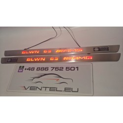 EXCLUSIVE DOOR LED SILL PLATES WITH ILLUMINATION FOR MERCEDES-BENZ C-CLASS W204 COUPE