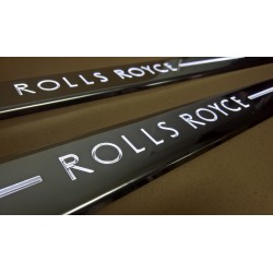 EXCLUSIVE DOOR LED SILL PLATES WITH ILLUMINATION FOR ROLLS-ROYCE PHANTOM COUPE 2008
