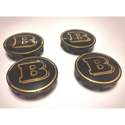 EXCLUSIVE HANDMADE WHEEL CAPS covered in GOLD 24 CARAT for BRABUS