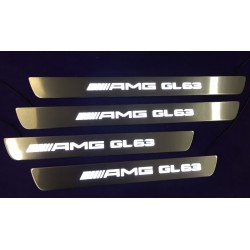 EXCLUSIVE DOOR LED SILL PLATES FOR MERCEDES GL X166 2012 up WITH ILLUMINATION