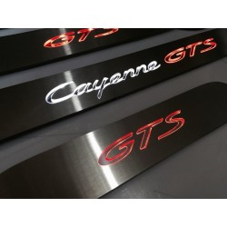 EXCLUSIVE DOOR LED SILL PLATES FOR PORSCHE CAYENNE II 2011 up WITH ILLUMINATION