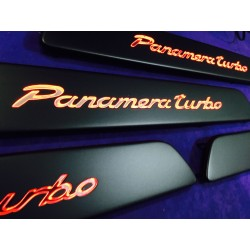 EXCLUSIVE DOOR LED SILL PLATES FOR PORSCHE PANAMERA 2009 up WITH ILLUMINATION