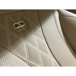 EXCLUSIVE HANDMADE LOGO IN THE CAR SEAT FOR ART