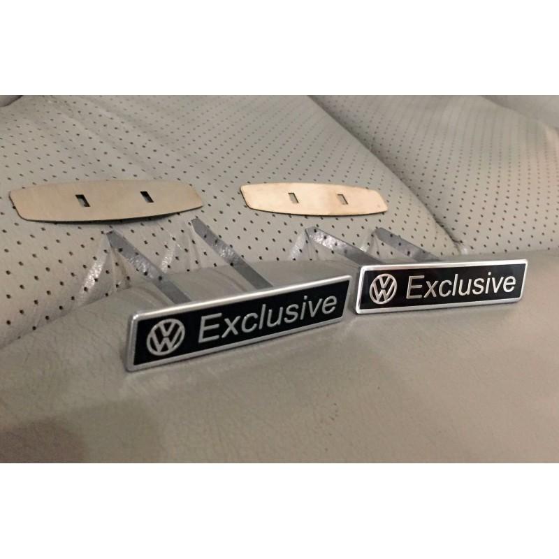 EXCLUSIVE HANDMADE LOGO IN THE CAR SEAT FOR VOLKSWAGEN