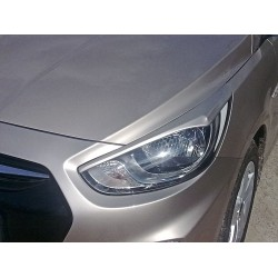 EYELID EYEBROW HEADLIGHT COVER FIT FOR HYUNDAI ACCENT 2010 up