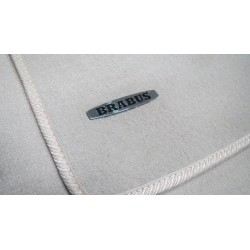 EXCLUSIVE HANDMADE LOGO IN THE CAR MAT FOR MERCEDES-BENZ BRABUS AMG DESIGNO