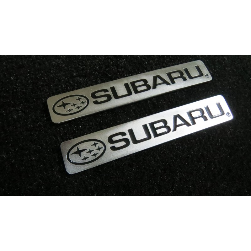 EXCLUSIVE HANDMADE LOGO IN THE CAR MAT FOR SUBARU