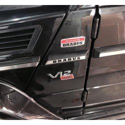 HANDMADE LOGO IN THE FENDER STYLE BRABUS FOR MERCEDES-BENZ