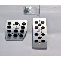 ALUMINUM PADS ON THE PEDALS FOR SMART FORTWO III 453 and FORFOUR LHD and RHD