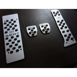 ALUMINUM PADS ON THE PEDALS FOR SEAT LEON 1P 2005 up
