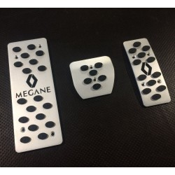 ALUMINUM PADS ON THE PEDALS FOR RENAULT MEGANE II 2003 up