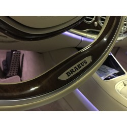 HANDMADE LOGO IN THE STEERING WHEEL STYLE BRABUS FOR MERCEDES-BENZ S-CLASS W222