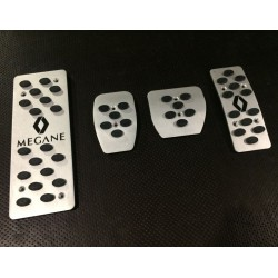 ALUMINUM PADS ON THE PEDALS for RENAULT MEGANE III 2008 up