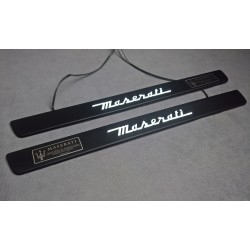 EXCLUSIVE DOOR LED SILL PLATES WITH ILLUMINATION FOR MASERATI GHIBLI 2013 up