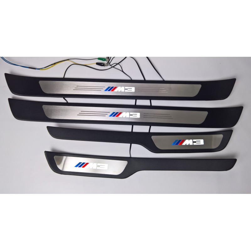 EXCLUSIVE DOOR LED SILL PLATES WITH ILLUMINATION style M for BMW 3 E90