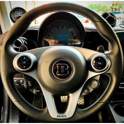 EXCLUSIVE LOGO IN THE STEERING WHEEL style BRABUS for MERCEDES-BENZ and SMART