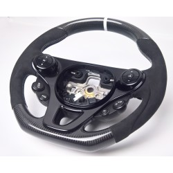 CARBON STEERING WHEEL for SMART FORTWO FORFOUR III 453 alcantara