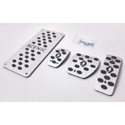 ALUMINUM PADS ON THE PEDALS for RENAULT SCENIC III 2009 up