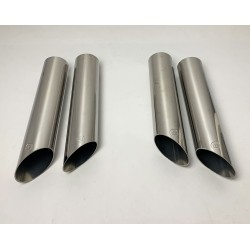 MUFFLER EXHAUST STAINLESS STEEL STYLE BRABUS FOR MERCEDES-BENZ W463 W124 W140