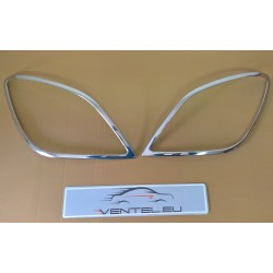 MERCEDES SPRINTER W906 2006 up CHROME FRONT HEADLAMP COVERS HEAD LIGHT TRIM SURROUND STAINLESS STEEL