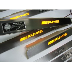 EXCLUSIVE DOOR LED SILL PLATES FOR MERCEDES S-Class W221 WITH ILLUMINATION