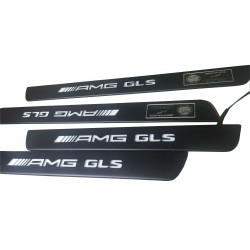 EXCLUSIVE DOOR LED SILL PLATES FOR MERCEDES GLS 2015 up WITH ILLUMINATION