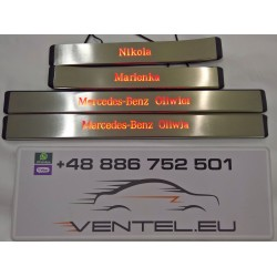 EXCLUSIVE DOOR LED SILL PLATES WITH ILLUMINATION FOR MERCEDES E-CLASS W211 2002 UP