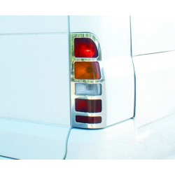 FORD TRANSIT 2000 up CHROME REAR LAMP COVERS STAINLESS STEEL