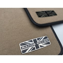EXCLUSIVE HANDMADE LOGO IN THE CAR MAT FOR LAND ROVER RANGE ROVER