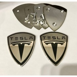 EXCLUSIVE HANDMADE LOGO IN THE CAR MAT FOR TESLA
