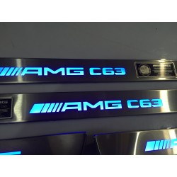 EXCLUSIVE DOOR LED SILL PLATES WITH ILLUMINATION FOR MERCEDES-BENZ C-CLASS W204