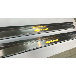 EXCLUSIVE DOOR LED SILL PLATES WITH ILLUMINATION FOR MERCEDES-BENZ W124 COUPE