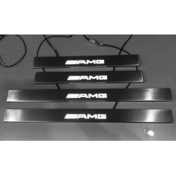EXCLUSIVE DOOR LED SILL PLATES WITH ILLUMINATION FOR MERCEDES-BENZ E-CLASS W210