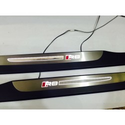 EXCLUSIVE DOOR LED SILL PLATES WITH ILLUMINATION FOR AUDI R8 2006 up