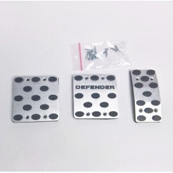 ALUMINUM PADS ON THE PEDALS for LAND ROVER DEFENDER 2006 up