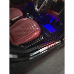 EXCLUSIVE DOOR LED SILL PLATES WITH ILLUMINATION FOR SMART FORTWO 450 or 451