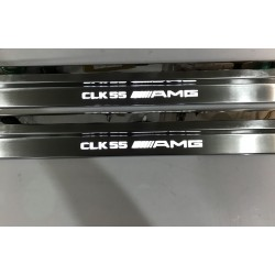 EXCLUSIVE DOOR LED SILL PLATES WITH ILLUMINATION for MERCEDES-BENZ CLK W208