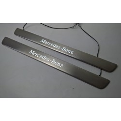 EXCLUSIVE DOOR LED SILL PLATES WITH ILLUMINATION for MERCEDES-BENZ CLS W218 2010 up