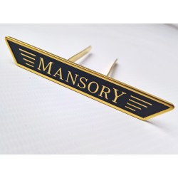 EXCLUSIVE HANDMADE LOGO IN THE CAR SEAT FOR MANSORY
