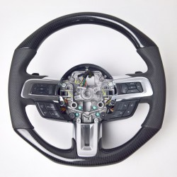 CARBON STEERING WHEEL for FORD MUSTANG VI 2015 up