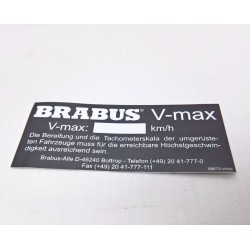 STICKER V-MAX style BRABUS